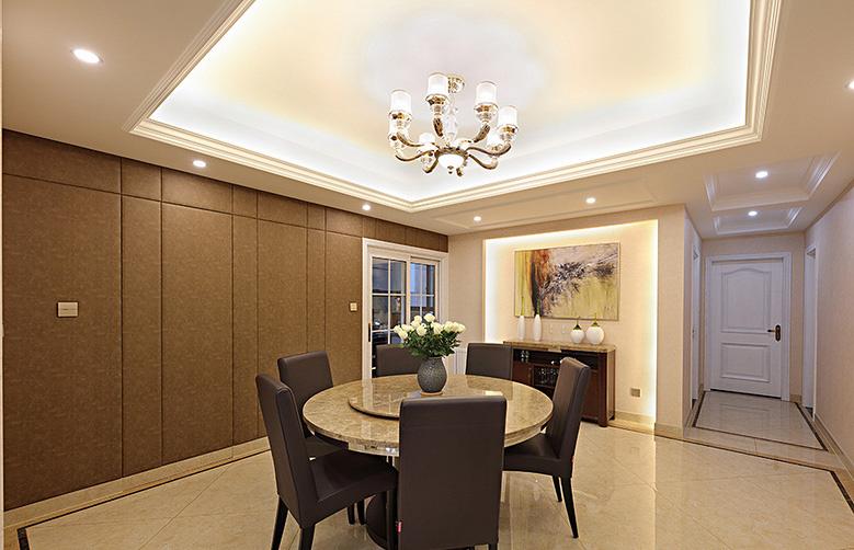 餐厅图片来自家装大管家在轻松自在 125平简约美式混搭3居的分享