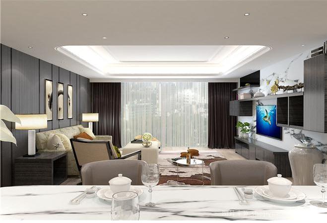 北京 公寓装修 新古典风格 毛坯 白领 餐厅图片来自北京紫禁尚品装饰刘霞在福景苑 200平公寓样板房设计作品的分享