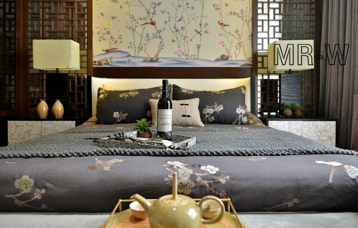 卧室图片来自翼森设计在古·韵的分享