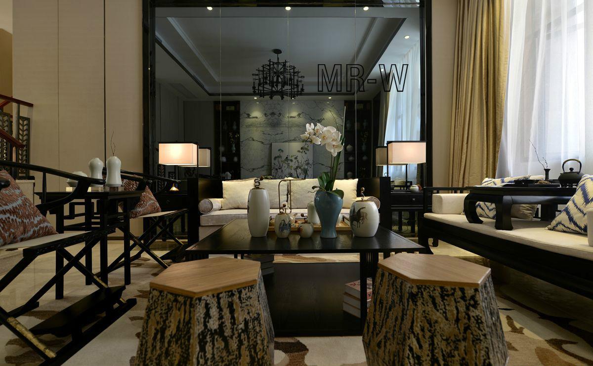 客厅图片来自翼森设计在古·韵的分享
