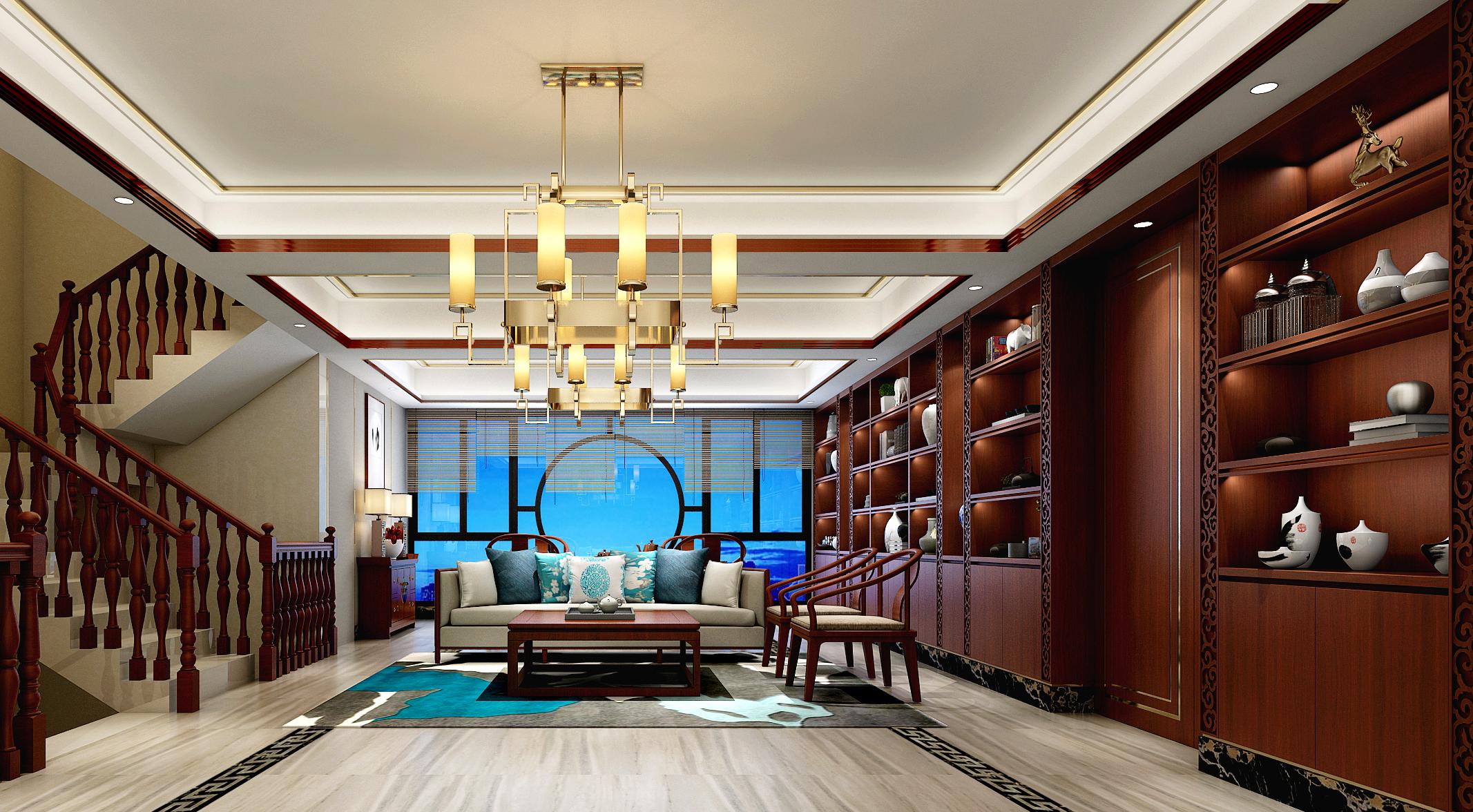 旧房改造 白领 别墅 中式 客厅图片来自在熙龙湾中式风格装修的分享