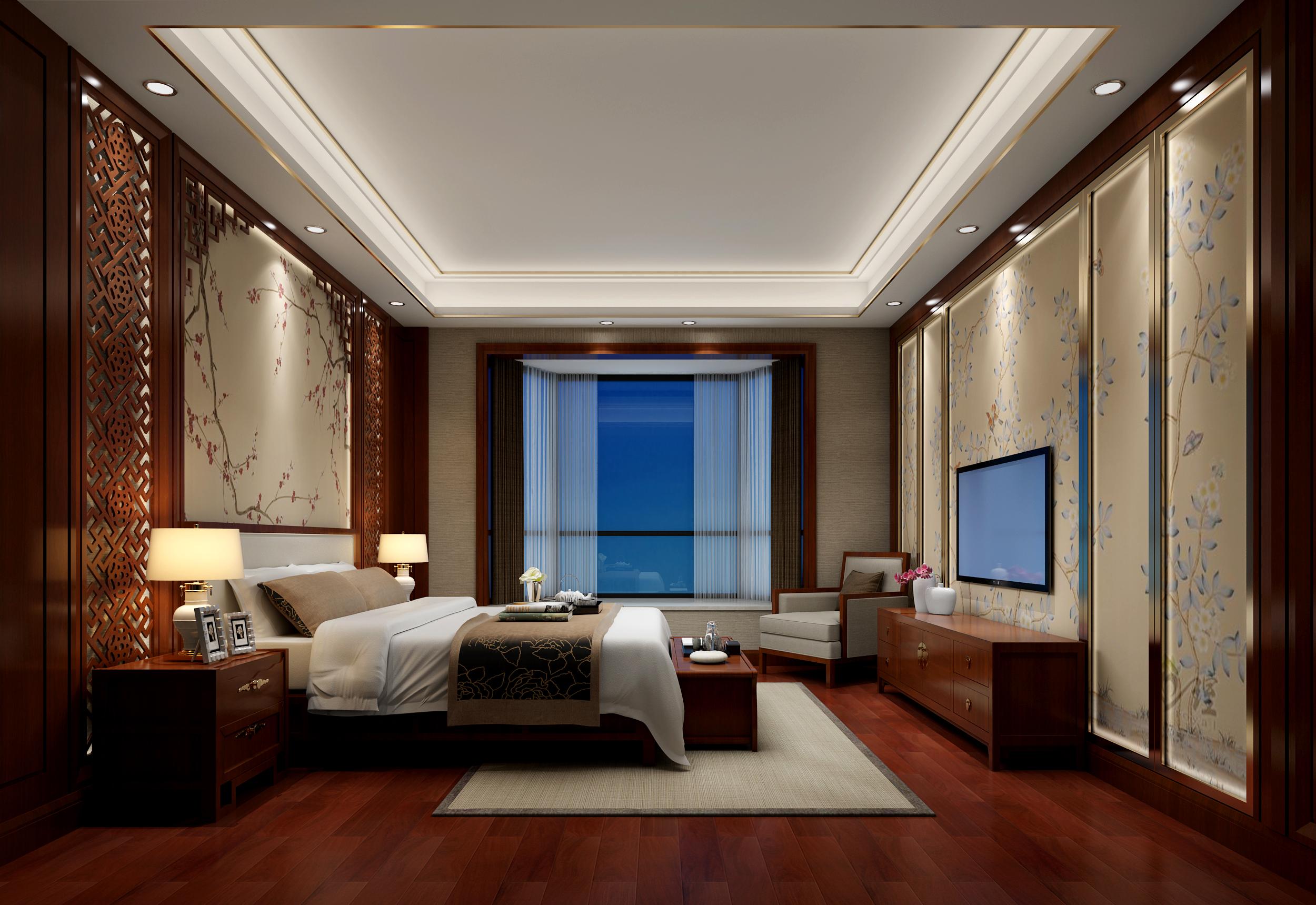 旧房改造 白领 别墅 中式 卧室图片来自在熙龙湾中式风格装修的分享