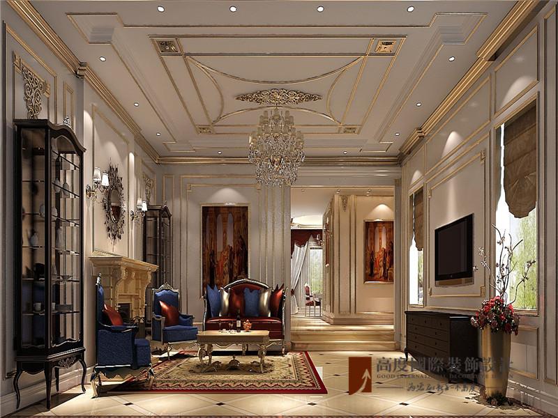 法式 别墅 高帅富 白富美 小资 客厅图片来自高度国际姚吉智在550平米法式独栋别墅百年不过时的分享