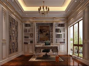 法式 别墅 高帅富 白富美 小资 书房图片来自高度国际姚吉智在550平米法式独栋别墅百年不过时的分享
