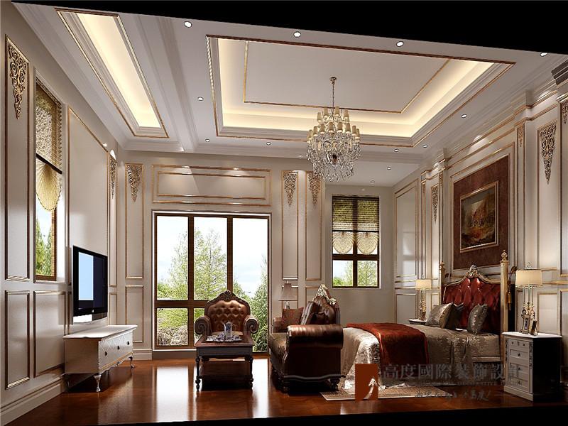 法式 别墅 高帅富 白富美 小资 卧室图片来自高度国际姚吉智在550平米法式独栋别墅百年不过时的分享