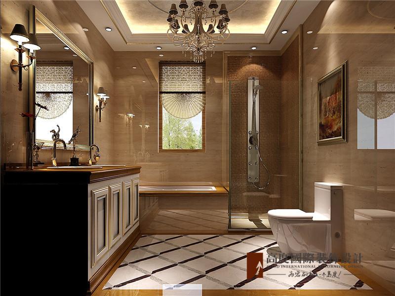 法式 别墅 高帅富 白富美 小资 卫生间图片来自高度国际姚吉智在550平米法式独栋别墅百年不过时的分享