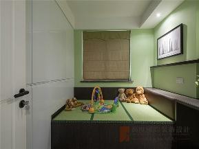 现代 中式 现代中式 三居 小资 儿童房图片来自高度国际姚吉智在145平米现代中式传统与现代碰撞的分享