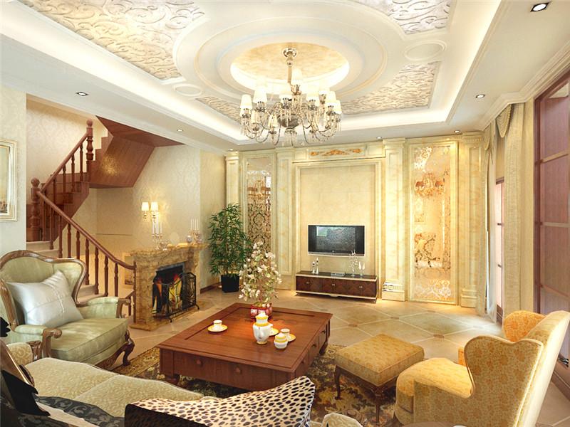 龙发装饰 国耀紫溪 别墅 别墅设计 四居 客厅图片来自龙发装饰天津公司在国耀紫溪四居欧式风格的分享