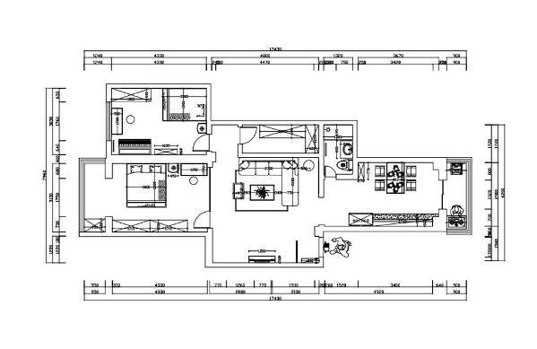 本户型为同发里2室2厅1厨1卫100㎡的中户型。