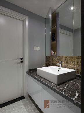 现代 中式 现代中式 三居 小资 卫生间图片来自高度国际姚吉智在145平米现代中式传统与现代碰撞的分享