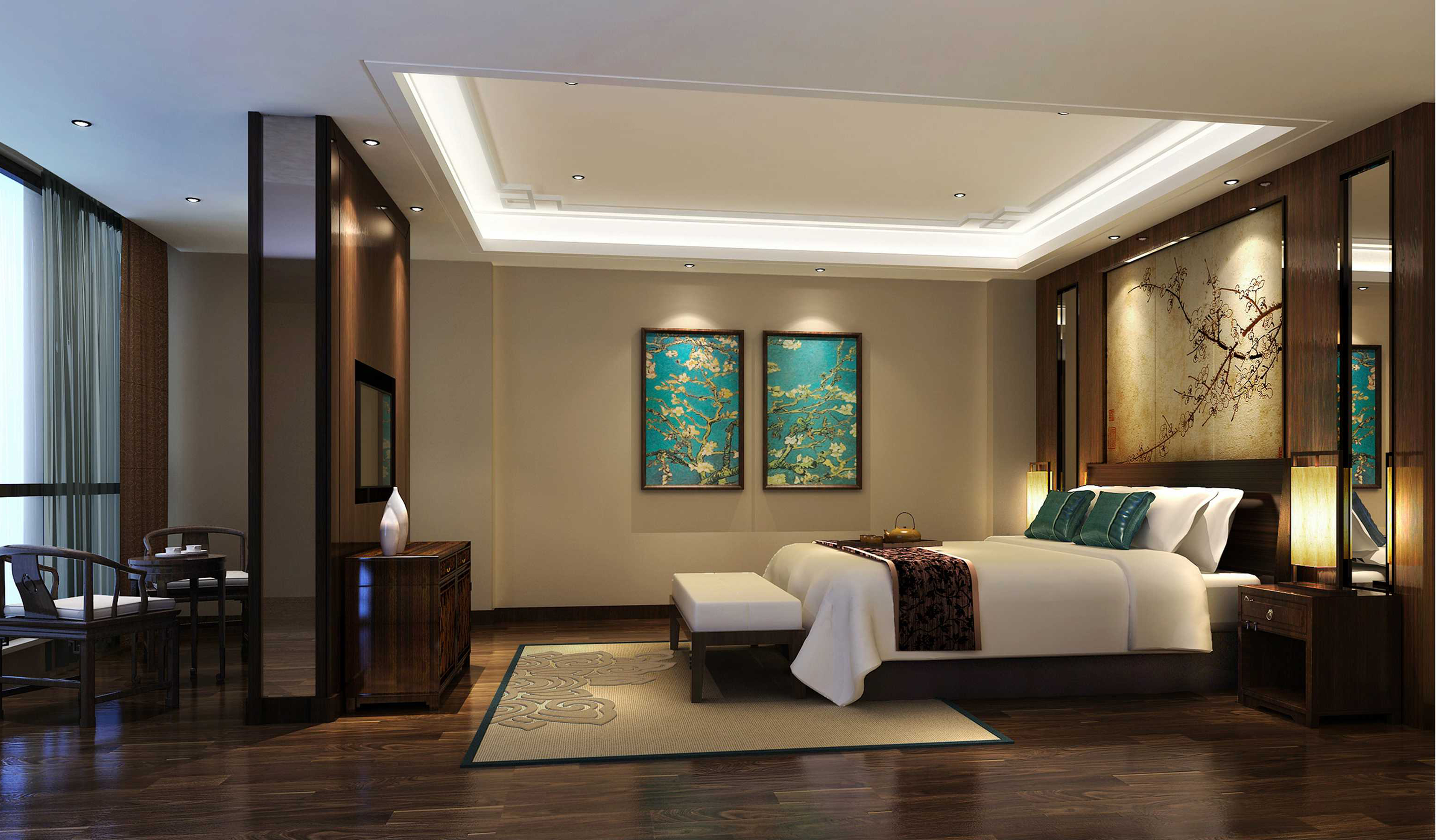 中式 成都装修 中式风格 成都装修公 跃层装修 复式装修 卧室图片来自四川百合居装饰集团在中式风格的分享