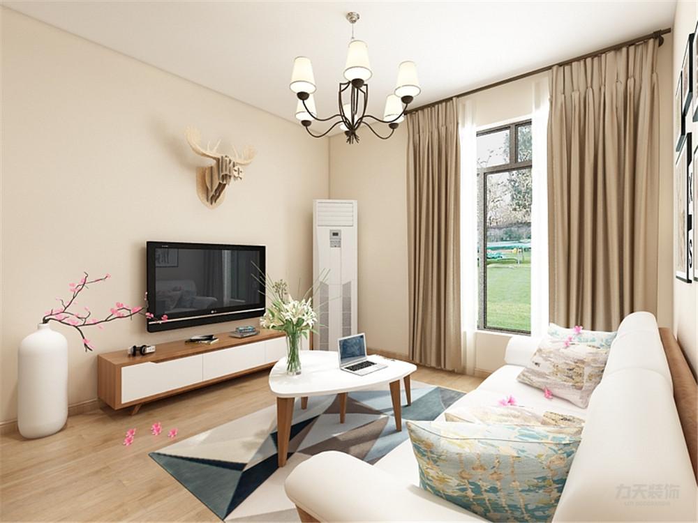 香颂园 简约 二居 客厅图片来自阳光放扉er在力天装饰-香颂园65㎡的分享
