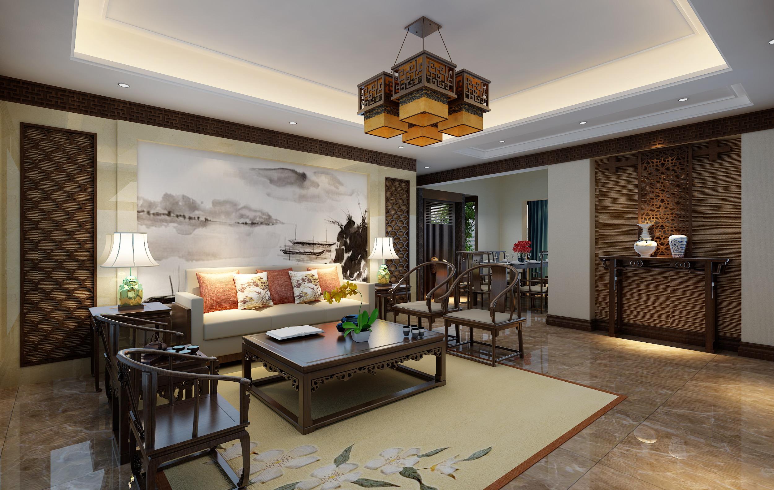 中式 成都装修 中式风格 成都装修公 跃层装修 复式装修 客厅图片来自四川百合居装饰集团在中式风格的分享