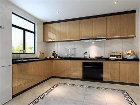 中式 现代中式 四居 80后 小资 厨房图片来自高度国际姚吉智在156平米现代中式一泓淡墨动春秋的分享