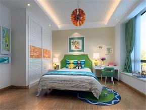 中式 现代中式 四居 80后 小资 儿童房图片来自高度国际姚吉智在156平米现代中式一泓淡墨动春秋的分享