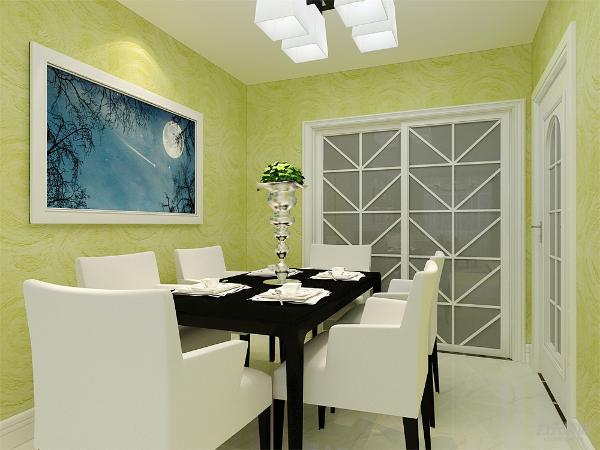 餐厅有自己独立的空间,有照片墙的设置,显得餐厅不单调