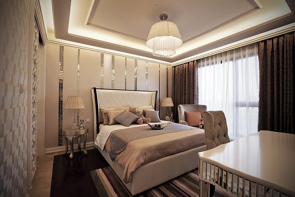 北京 公寓 精装 装修设计 新古典风格 卧室图片来自北京紫禁尚品装饰刘霞在220平新古典风格作品的分享