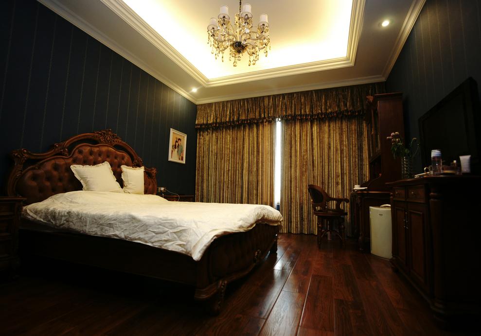 北京 公寓 毛坯 装修设计 美式风格 卧室图片来自北京紫禁尚品装饰刘霞在170平美式风格大平层完工实景照的分享