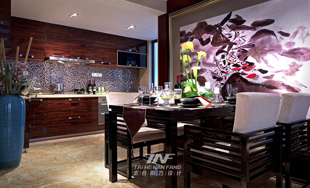 中式风格  样板房设计 三居 餐厅图片来自王五平设计在广西来宾海德堡三号样板房的分享