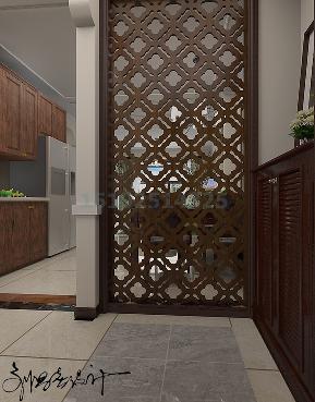 三居室 实创 美式 青岛装修 白领 玄关图片来自快乐彩在海尔地产世纪公馆107平三居室的分享