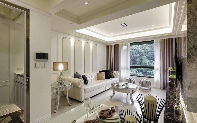 客厅图片来自家装大管家在温馨格调 138平欧式简约混搭3居的分享