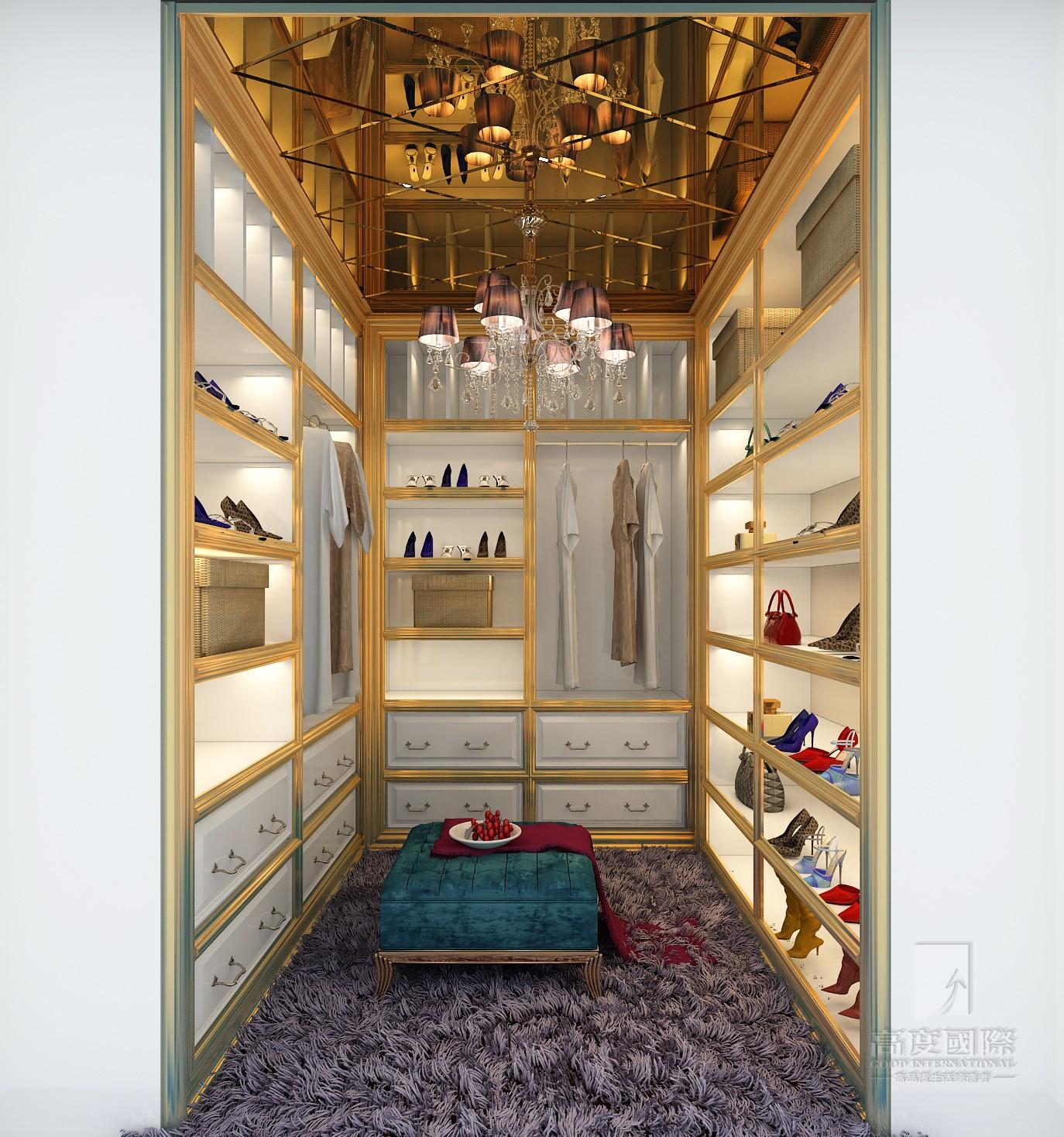 欧式 别墅 高度国际 衣帽间图片来自杭州别墅装修设计在富春玫瑰园350方别墅欧式风格的分享