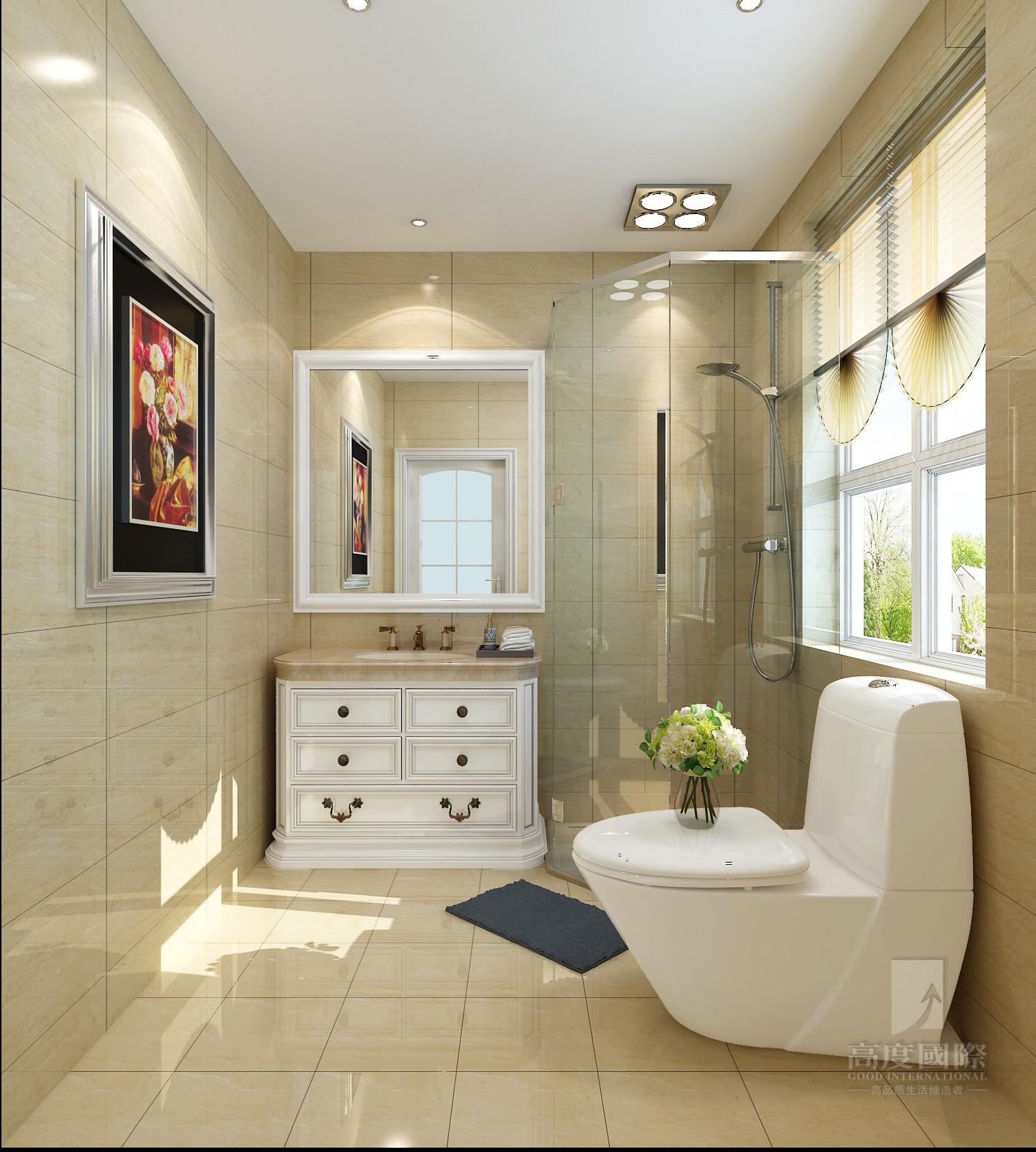 欧式 别墅 高度国际 卫生间图片来自杭州别墅装修设计在富春玫瑰园350方别墅欧式风格的分享