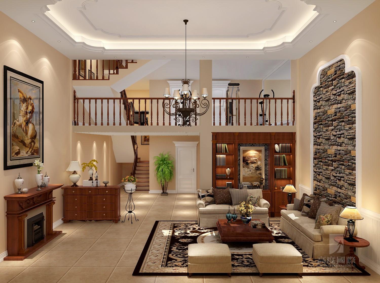 欧式 别墅 高度国际 客厅图片来自杭州别墅装修设计在富春玫瑰园350方别墅欧式风格的分享