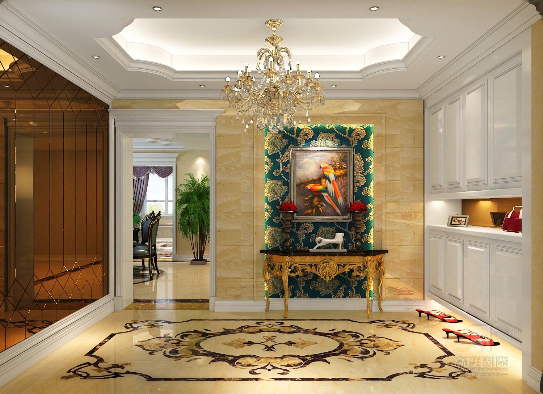 欧式 别墅 高度国际 玄关图片来自杭州别墅装修设计在富春玫瑰园350方别墅欧式风格的分享