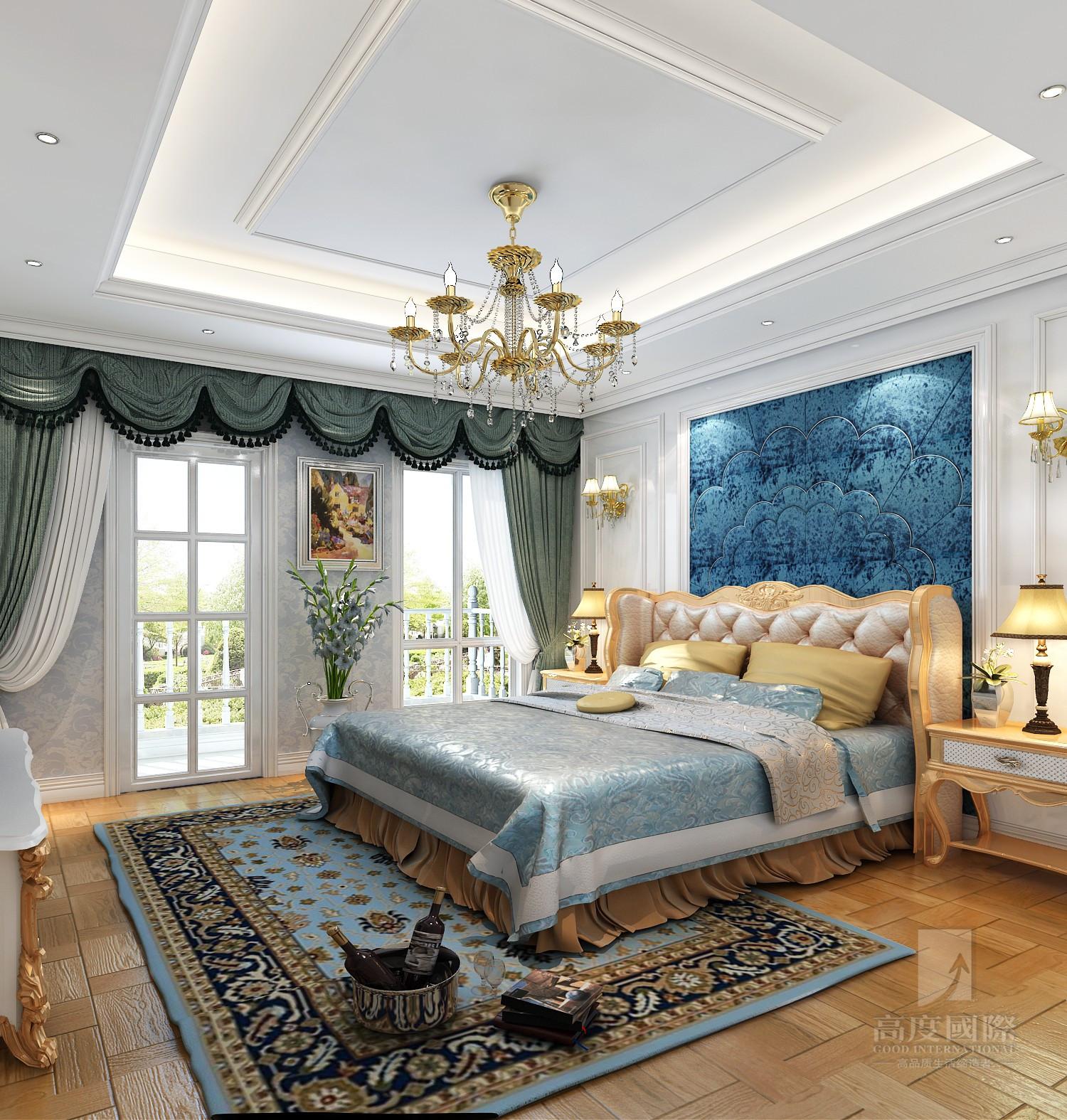 欧式 别墅 高度国际 卧室图片来自杭州别墅装修设计在富春玫瑰园350方别墅欧式风格的分享