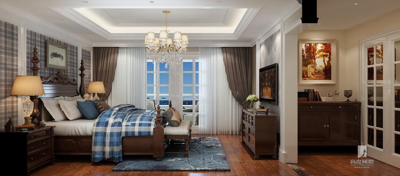 别墅 高度国际 卧室图片来自杭州别墅装修设计在东海闲湖城排屋别墅美式风格的分享