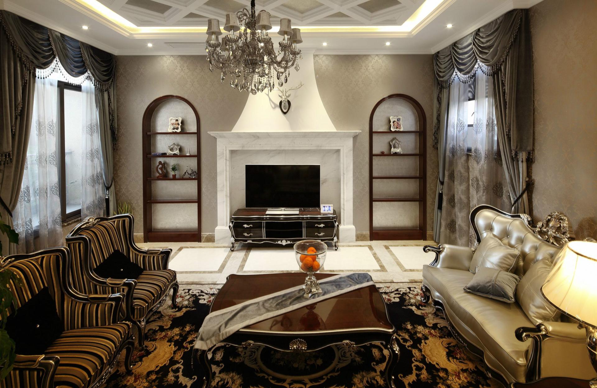 北京 公寓 装修 设计 简欧 客厅图片来自北京紫禁尚品装饰刘霞在五矿万科·如园简欧风格装修设计的分享