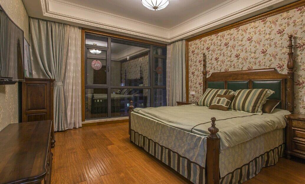 嘉年华装饰 菩提苑 170平 四居室 美式风格 卧室图片来自武汉嘉年华装饰在温馨美满的分享