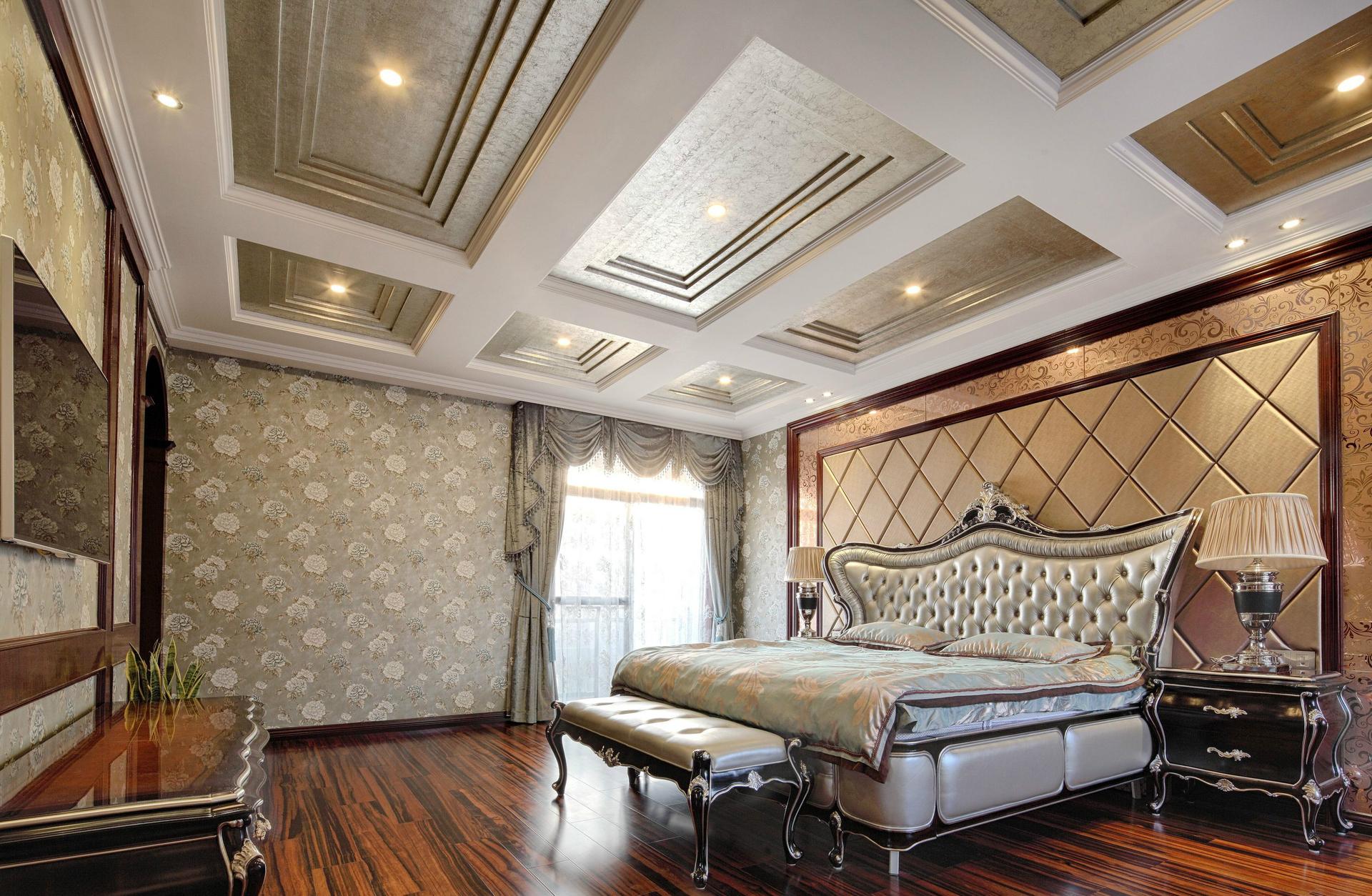 北京 公寓 装修 设计 简欧 卧室图片来自北京紫禁尚品装饰刘霞在五矿万科·如园简欧风格装修设计的分享