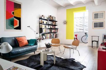 色彩斑斓的公寓设计
