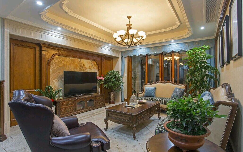 嘉年华装饰 菩提苑 170平 四居室 美式风格 客厅图片来自武汉嘉年华装饰在温馨美满的分享