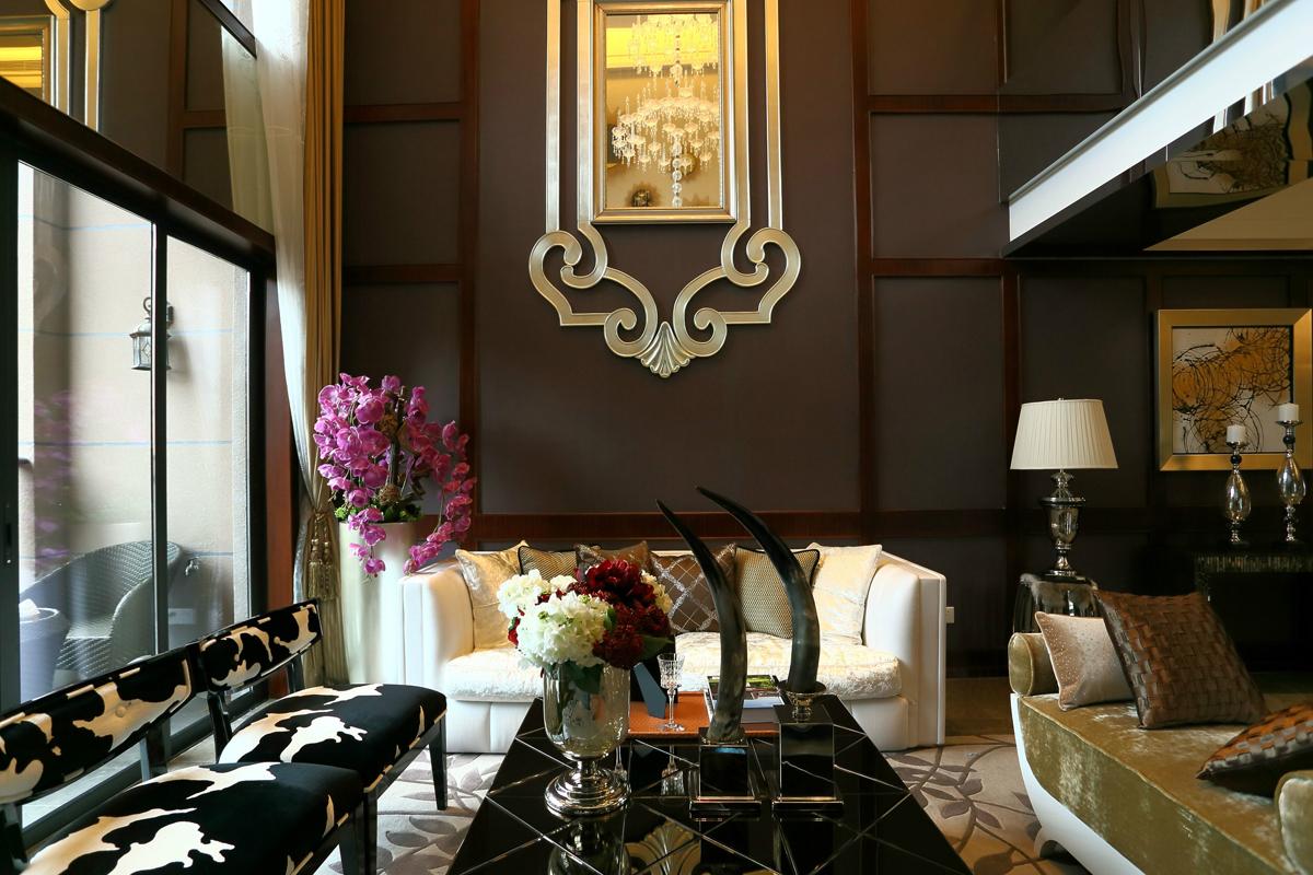北京 别墅 装修 设计 现代风格 客厅图片来自北京紫禁尚品装饰刘霞在国瑞生态城·瑞景墅167平别墅设计的分享