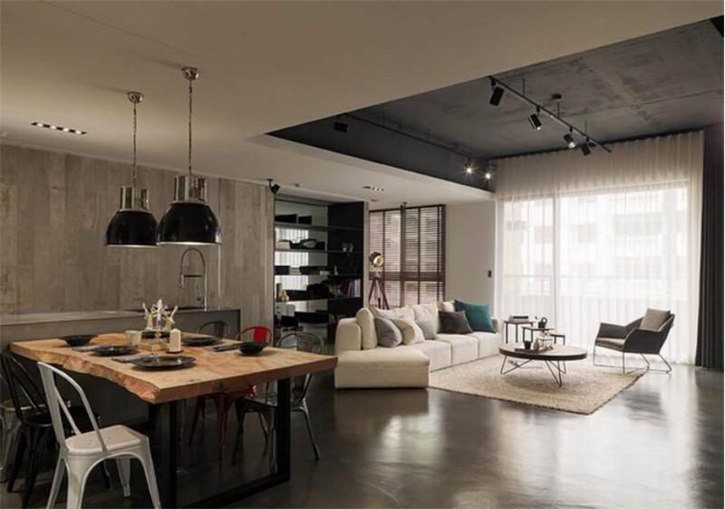 龙发装饰 富锦家园 工业风格 三居 装修设计 餐厅图片来自龙发装饰天津公司在富锦家园三居LOFT工业风格的分享