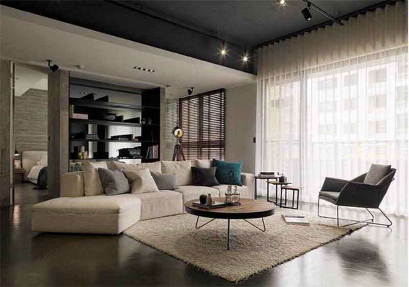 龙发装饰 富锦家园 工业风格 三居 装修设计 客厅图片来自龙发装饰天津公司在富锦家园三居LOFT工业风格的分享