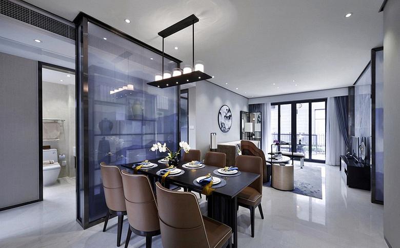 餐厅图片来自家装大管家在清雅含蓄 103平现代中式3居室的分享