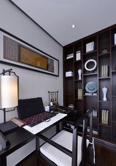 书房图片来自家装大管家在清雅含蓄 103平现代中式3居室的分享