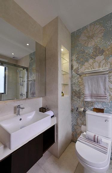 卫生间图片来自家装大管家在清雅含蓄 103平现代中式3居室的分享