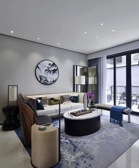 客厅图片来自家装大管家在清雅含蓄 103平现代中式3居室的分享
