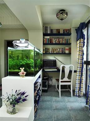 简约 地中海 二居 白领 80后 小资 书房图片来自高度国际姚吉智在89平米简约地中海小两口温馨之家的分享