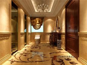 欧式 新古典 别墅 小资 高帅富 卫生间图片来自高度国际姚吉智在500平米新古典欧式寸寸精装修的分享