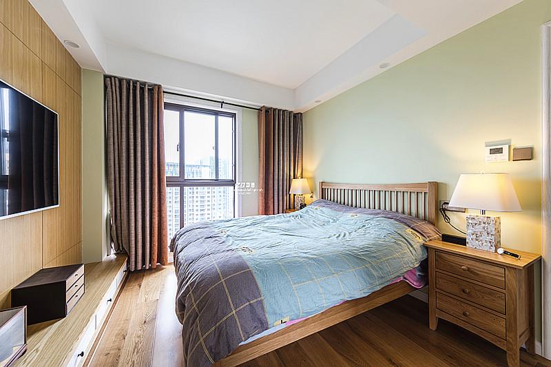 混搭 三居 收纳 小资 环保 案例图片 卧室图片来自中博装饰在春和钱塘120方混搭风惊艳了时光的分享