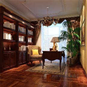 欧式 新古典 别墅 小资 高帅富 书房图片来自高度国际姚吉智在500平米新古典欧式寸寸精装修的分享