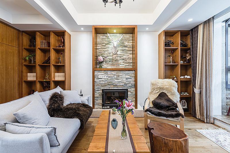 混搭 三居 收纳 小资 环保 案例图片 客厅图片来自中博装饰在春和钱塘120方混搭风惊艳了时光的分享