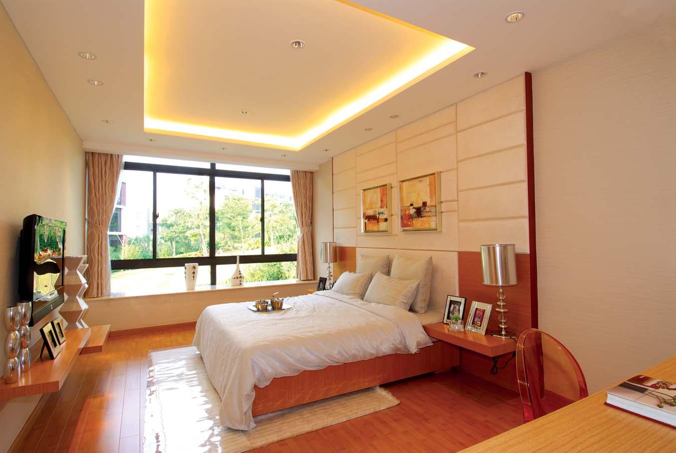 简约 别墅 白领 80后 小资 卧室图片来自广州九艺(三星)装饰设计在时代依云小镇龙小姐雅居的分享