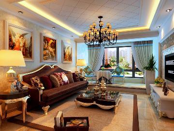 东方银座130平美式风格半包45000